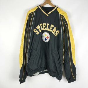 NFL Steelers Pullover XL Jacket Windbreaker patch